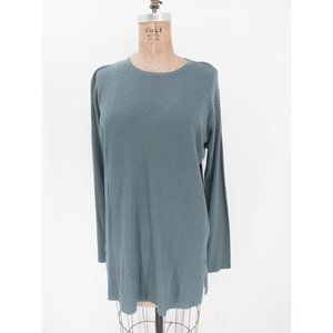 Eileen Fisher Tencel Stretch Round Neck Tunic